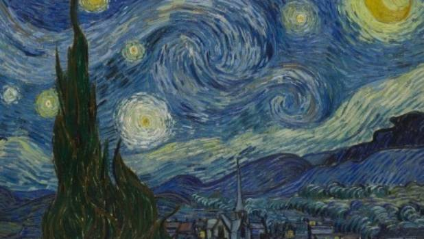 Van Gogh painted 'The Starry Night' in 1889. It is said to be the nighttime view from the window of his asylum room.