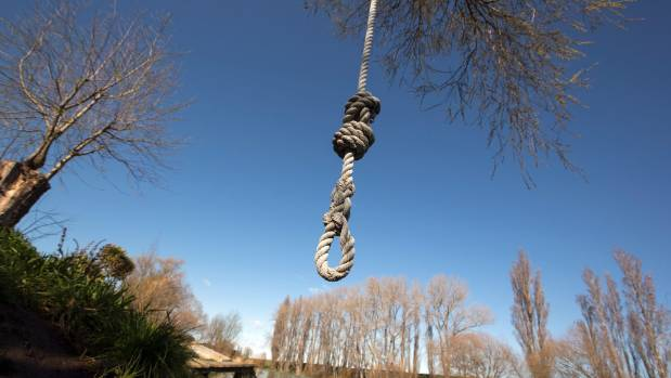 An unused rope swing at the Selwyn River. The water is too polluted for swimming.