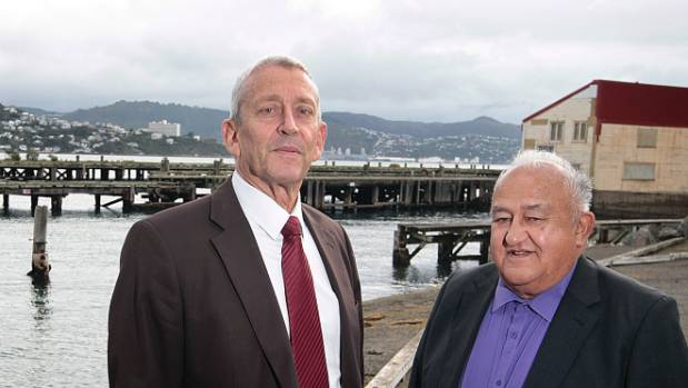Ian Cassels, director of the Wellington Company, with Port Nicholson Block Settlement Trust chairman Neville Baker.