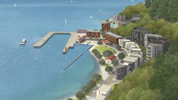 An artist's impression of a joint venture development at Shelly Bay by the Port Nicholson Block Development Trust and ...