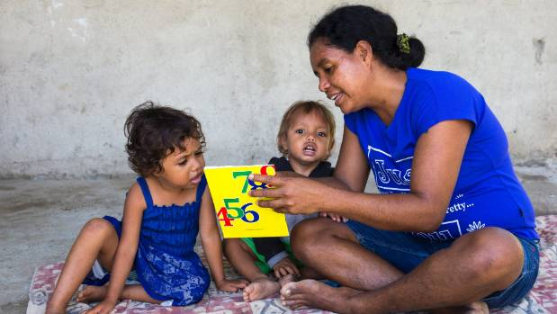 Brizita Xavier Trindade, 3 years. Brizita's and Otto's mother Esperanza Alves Xavier likes to read to her children. She ...