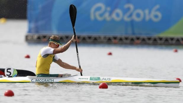 Curtis McGrath on his way to winning gold.