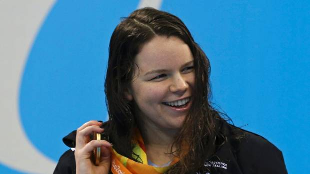 Mary Fisher had already won gold in the women's 100m backstroke S11.