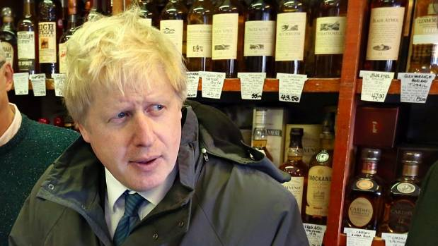 Cheers. Boris Johnson ordered up a crate of wine when Murray McCully turned up on his doorstep.