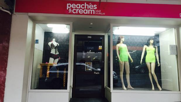 The large window of Peaches & Cream in Dunedin was broken in a smash and grab and lingerie was taken off a mannequin.