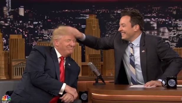 Jimmy Fallon received backlash for the light-hearted conversation and for playfully mussing Donald Trump's hair in 2016