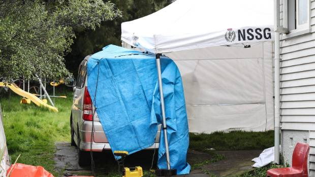 Police forensics were scouring the scene. & Death in Auckland investigated by police | Stuff.co.nz