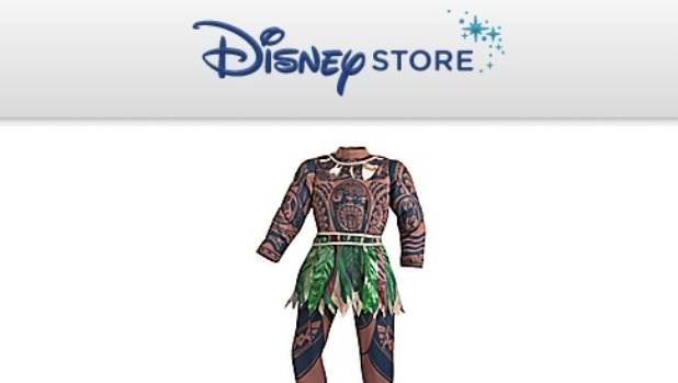 """Starting at $61, online shoppers can buy an """"authentic Disney costume"""", a  zip-up Moana suit complete with """"allover Maui ..."""