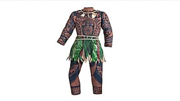 "Starting at $61, online shoppers can buy an ""authentic Disney costume"", a  zip-up Moana suit complete with ""allover Maui ..."