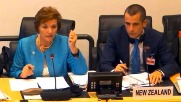Social Development Minister Anne Tolley at the UN Committee on the Rights of the Child in September.