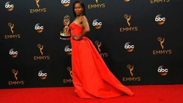 Regina King poses backstage with her award for Outstanding Supporting Actress In A Limited Series Or Movie for American ...
