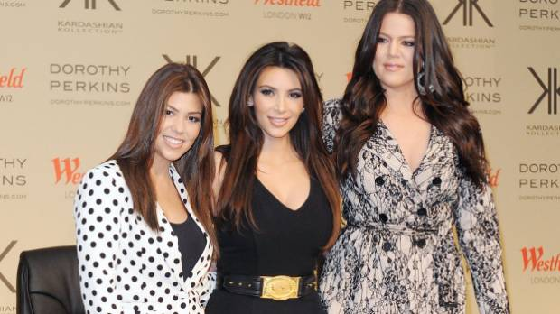 Kourtney Kardashian, Kim Kardashian and Khloe Kardashian pictured in 2012.