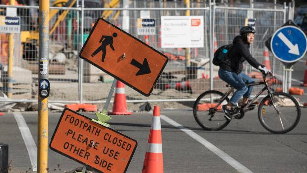 Constant roadworks as part of Christchurch's Accessible City plan have been a source of frustration.