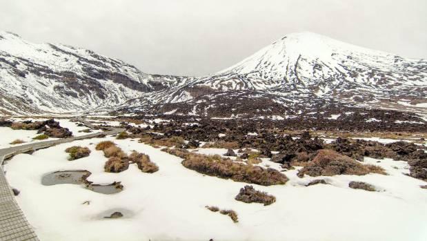 Mt Ngaruhoe, Tongariro National Park alpine crossing.