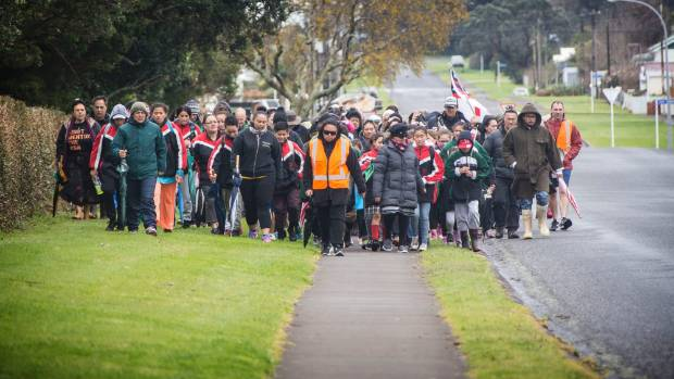 The Peace for Pekapeka walk attracted 200 people, who marched in opposition against the bill in September.