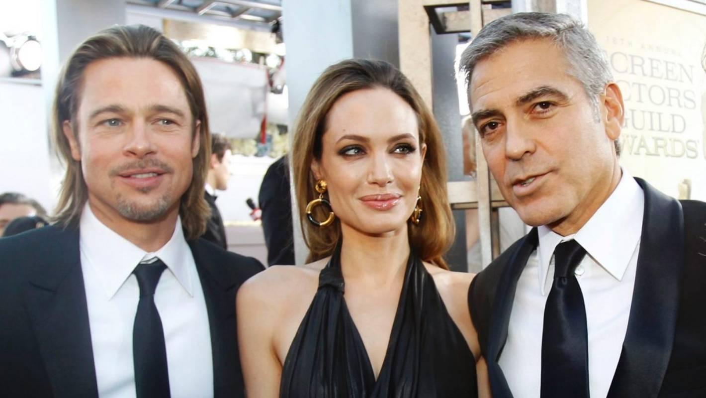 Awkward: George Clooney finds out about Brangelina's ...