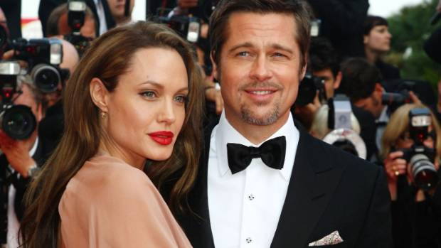 Angelina And Brad in happier times.
