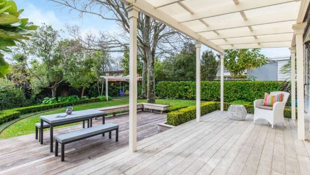 This backyard in Kohimarama is ideal for entertaining.