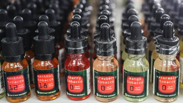 A variety of exotic flavours for vapers are available.