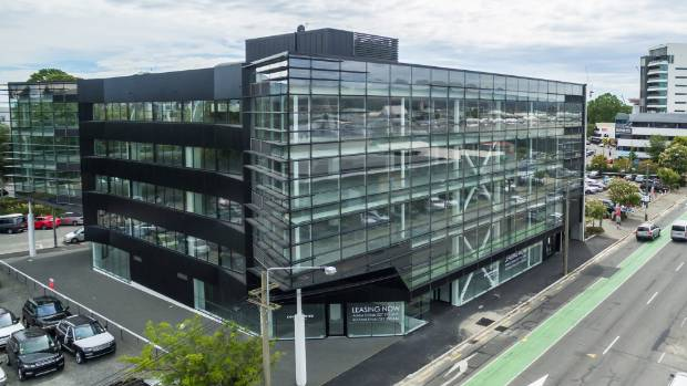 The redeveloped building at 32 Oxford Tce leased to the Canterbury District Health Board.