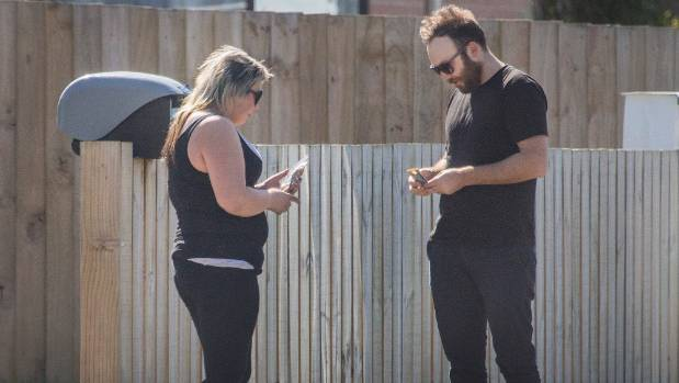 Reporter Blair Ensor buying black market tobacco from a woman advertising on Facebook.