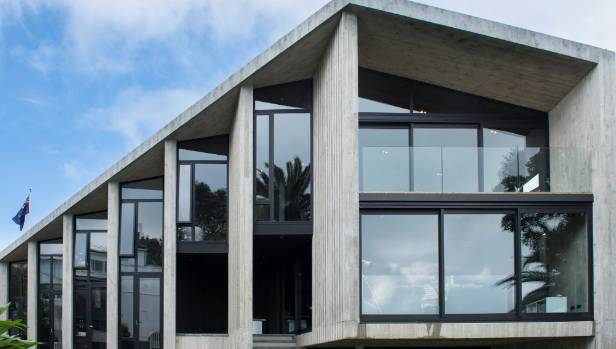 Grand designs nz ambitious concrete house brings unseen for Precast concrete home plans