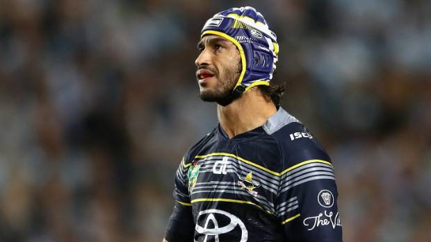 f46c4deb8 Johnathan Thurston struggled against the Sharks but he still found time to  make one young fan s