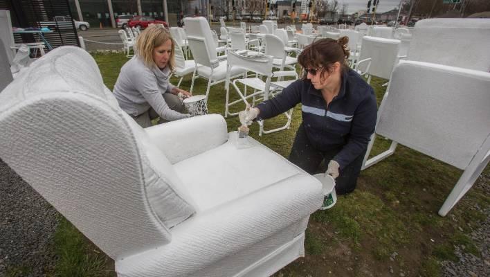 Christchurch 185 White Chairs Earthquake Memorial Gets A