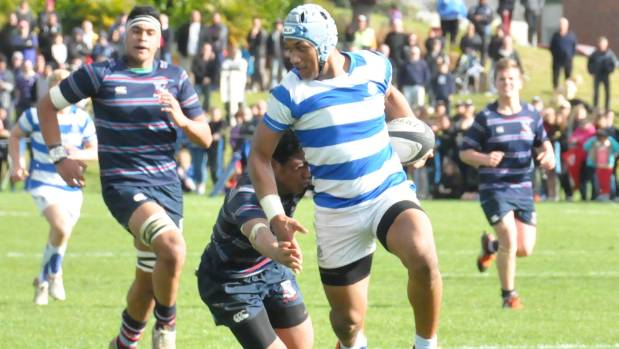 Te Ahiwaru Cirkidaveta is a talented rugby player, pictured here playing for Saint Kentigern College's First XV.
