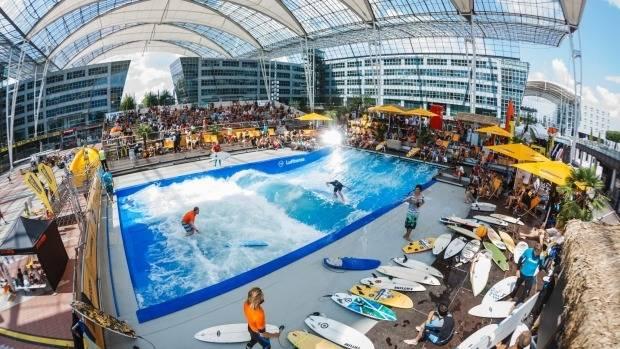 Surfing at Munich Airport