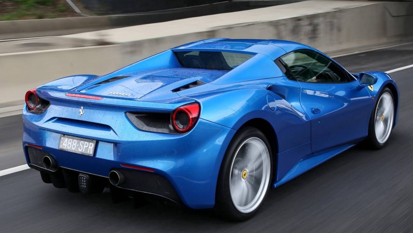 Ferrari 488 Spider Puts Thunder Into The Bright Blue Sky Stuff Co Nz