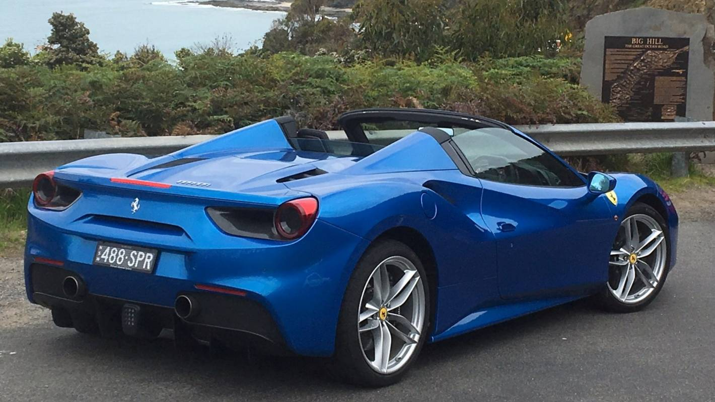 Ferrari 488 Spider Puts Thunder Into The Bright Blue Sky Stuff Co Nz