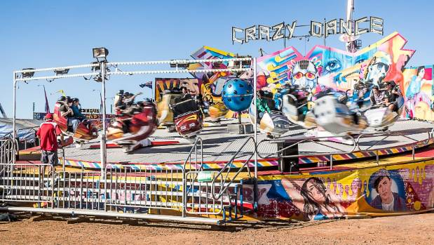 One of the rides at the rodeo.