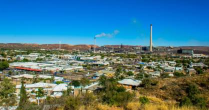 The view of Mount Isa from the Hilary St lookout.
