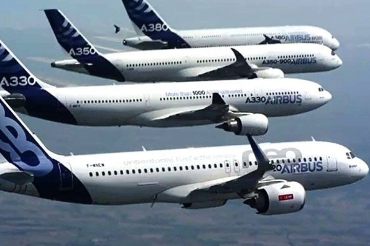 Airbus family flight: A380, A350, A330 and A320 perform spectacular  formation flight | Stuff.co.nz