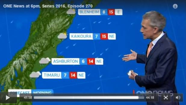 No sign of Picton on the TVNZ weather forecast.
