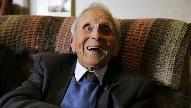 100-year-old Norman Dickie, of Gore.