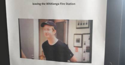 Posters of missing man Lucas Cochrane were put up throughout the Coromandel town.