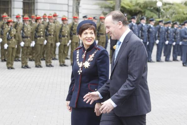 Dame Patsy Reddy and Prime Minister John Key.