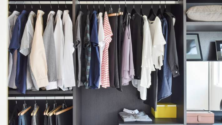Arrange Your Clothes In Categories: Long Sleeved Shirts, Dresses, Jackets  And So