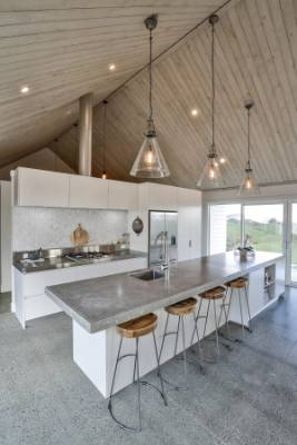 The Owner Made The 4.5m Long Concrete Benchtop On Site, Saving Up To