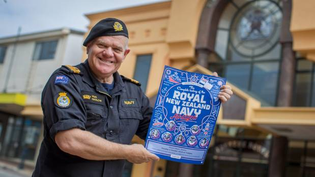 Actor Mark Hadlow is directing The Complete History of the Royal New Zealand Navy, which is showing aboard HMNZS ...