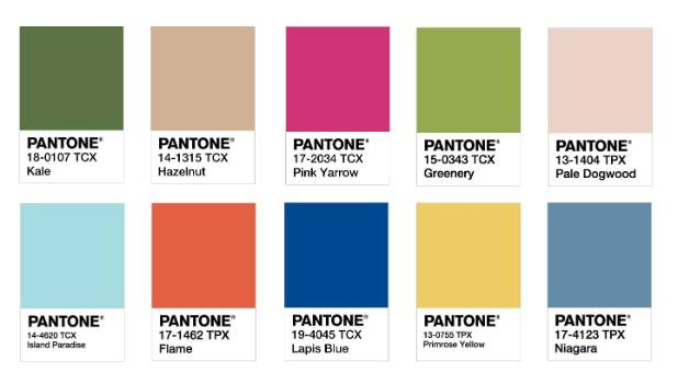 Pantone s spring colour predictions for 2017 kale hazelnut pink