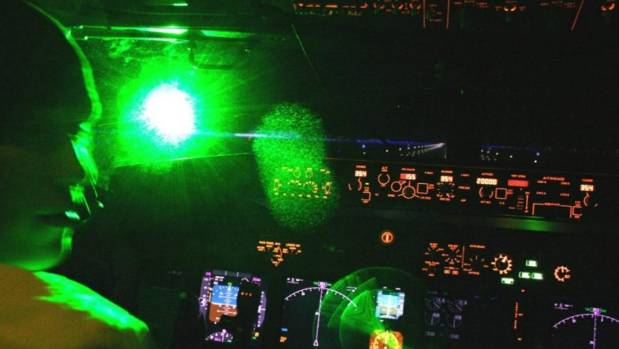 Crew could suffer permanently damaged retinas from laser strikes. (File photo)