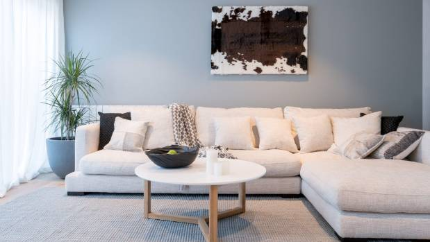 The Block NZ contestants Dyls and Dylz won the living room challenge, when they teamed a comfortable with a large ...