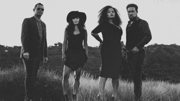 The Solomon Cole Band, from left, Lee Catlin, Dionne Denize, Miss Sophia and Derek Solomon.