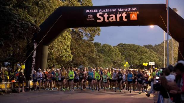 The start line at the Auckland Marathon.