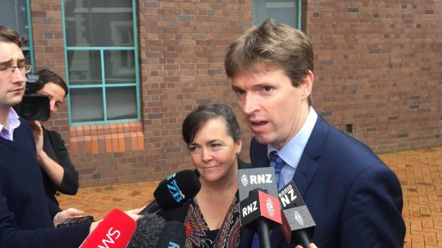 Colin Craig outside court after losing his defamation case.