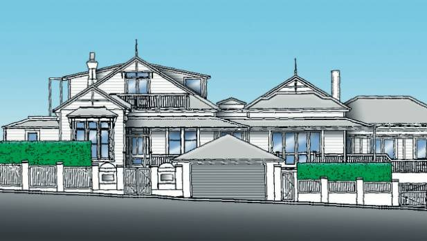 An illustration of a new super mansion being built by former test cricketer Greg Loveridge adapted from a resource ...