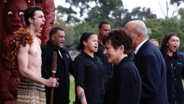 Governor General Dame Patsy Reddy is welcomed on to Whakatu Marae during her first official visit to Nelson.